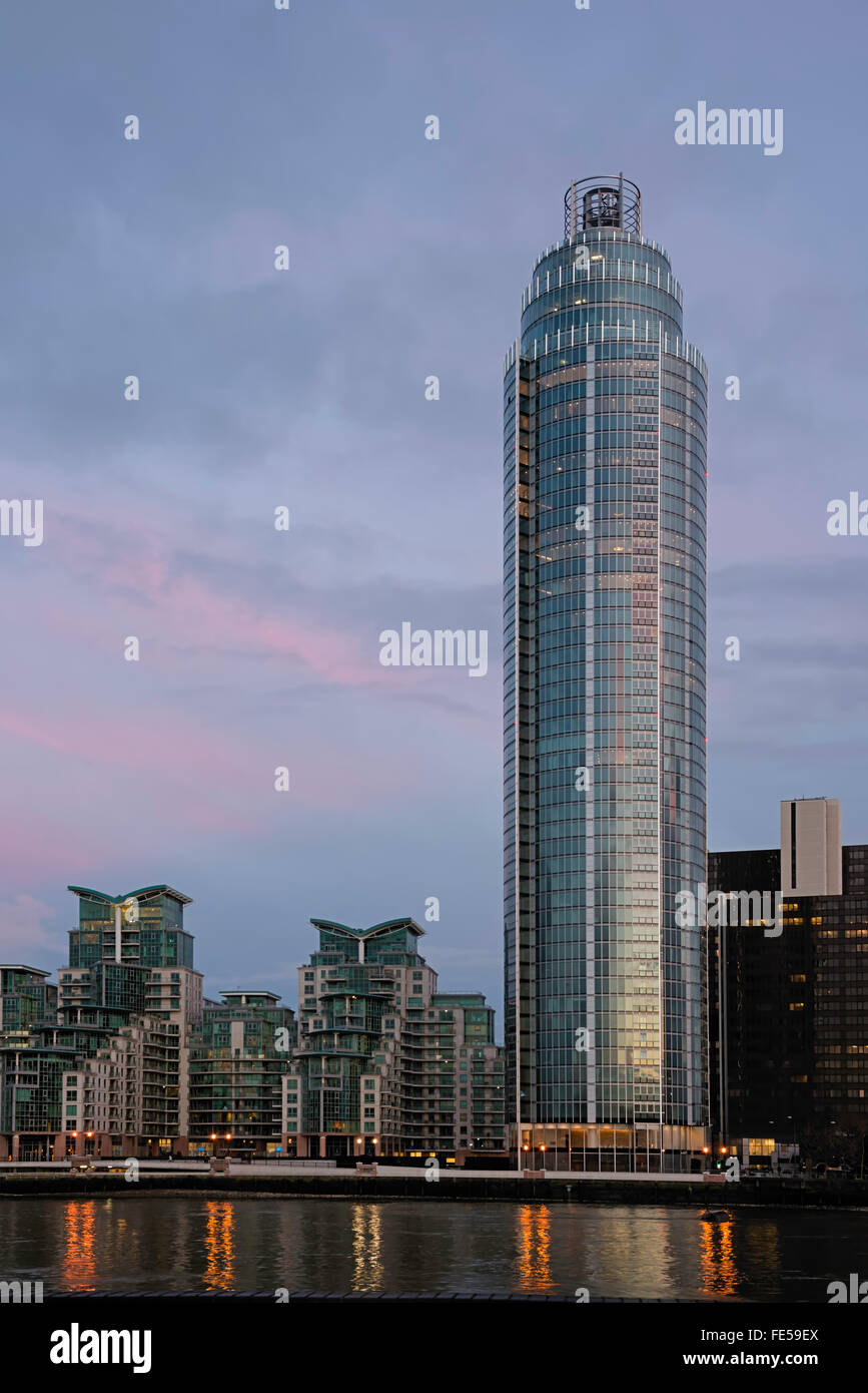St George Wharf tower Composite - Stock Image