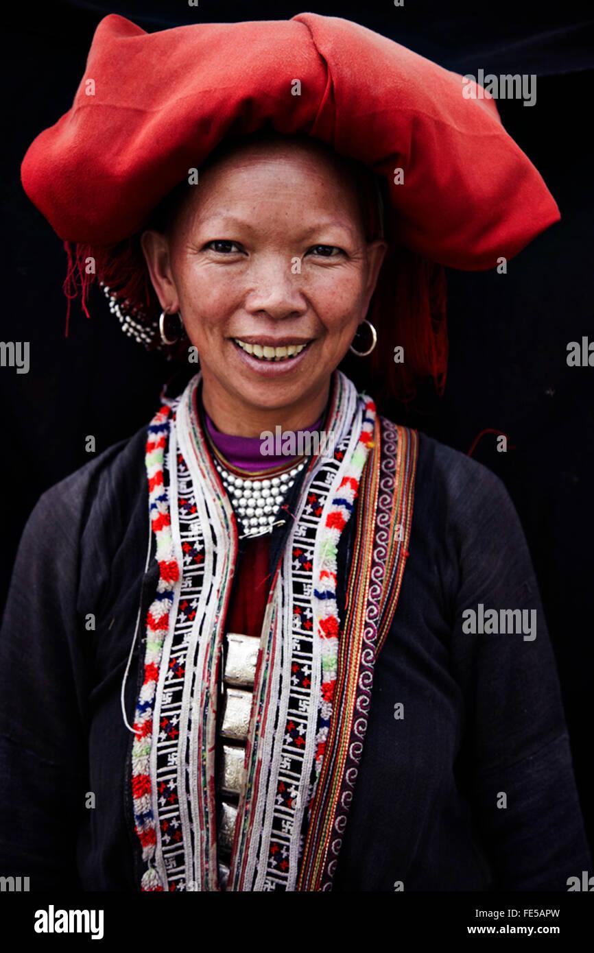 portait of reed dzao in north Vietnam - Stock Image