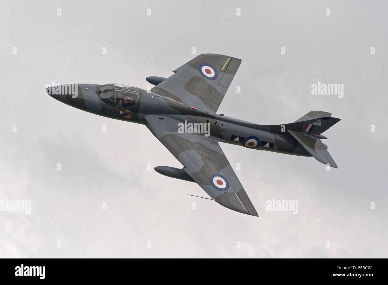 Hawker Hunter T.7 jet aircraft, registration WV372 Stock Photo
