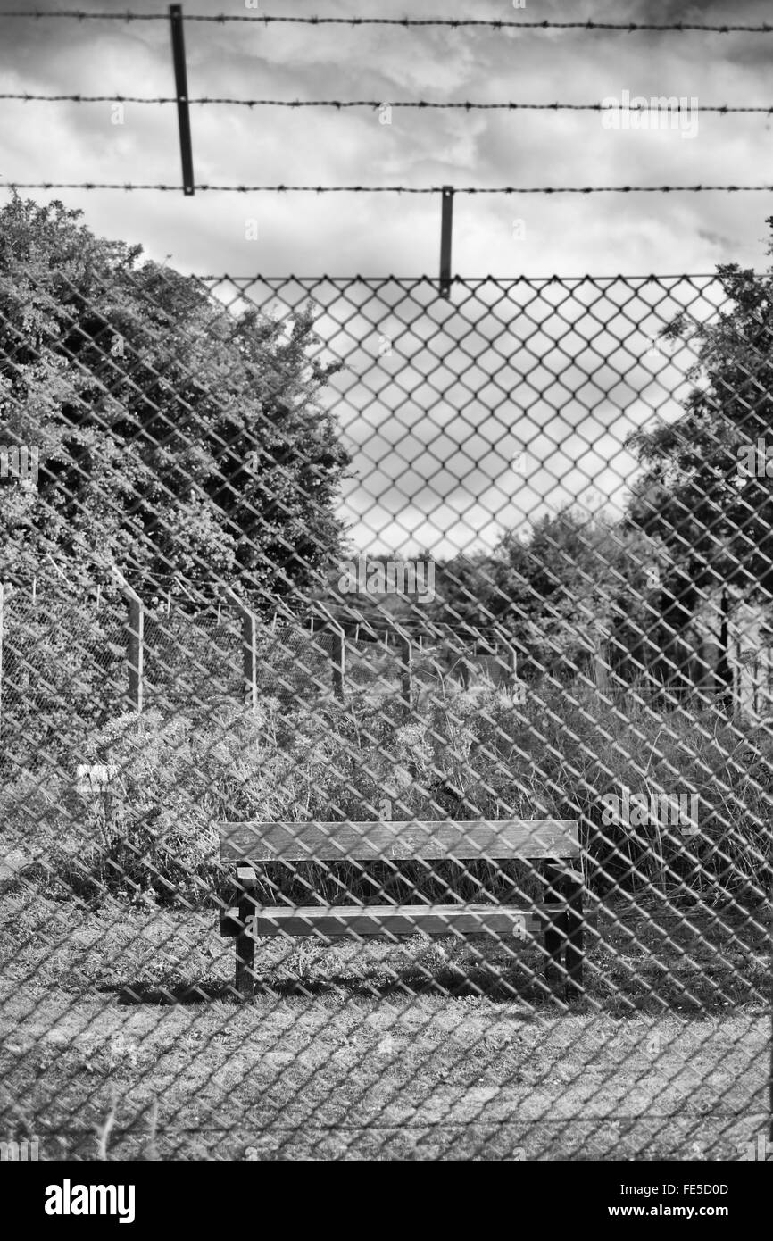 Behind Barbed Wire Black and White Stock Photos & Images - Alamy