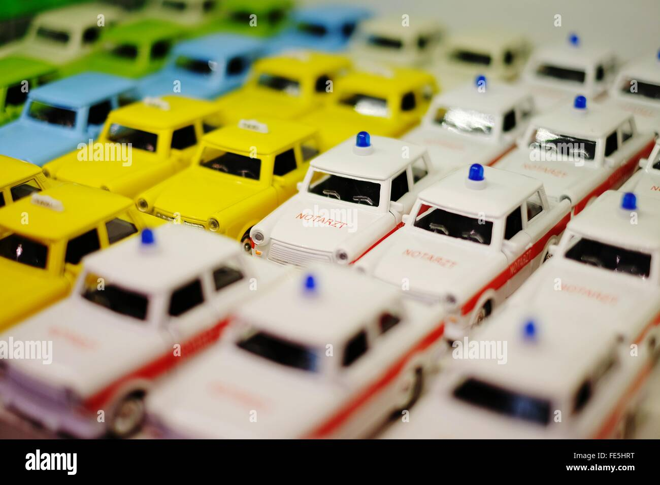 Detail Shot Of Toy Cars - Stock Image