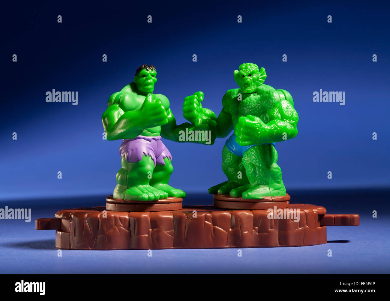 Incredible Hulk vs Abomination happy meal toy - Stock Image