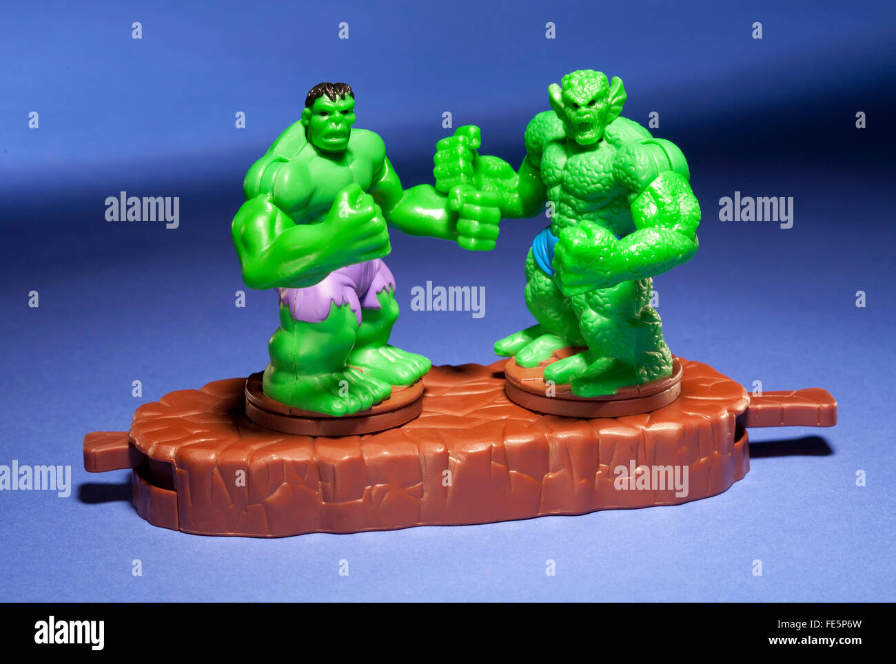 Incredible Hulk vs Abomination happy meal toy Stock Photo