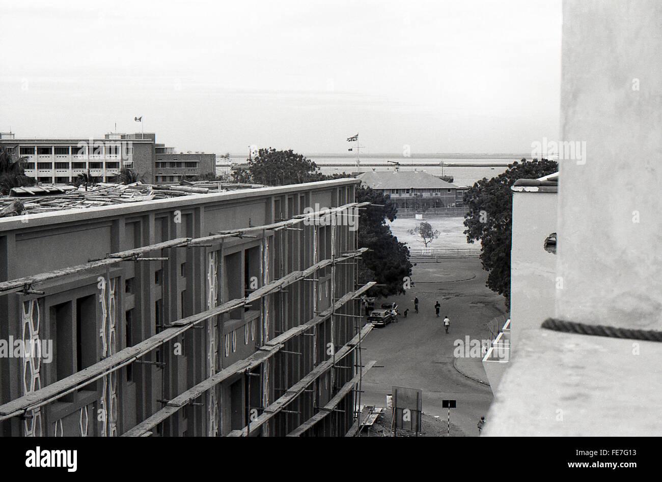 Street scene Aden Yemen 1967 British withdrawal - Stock Image