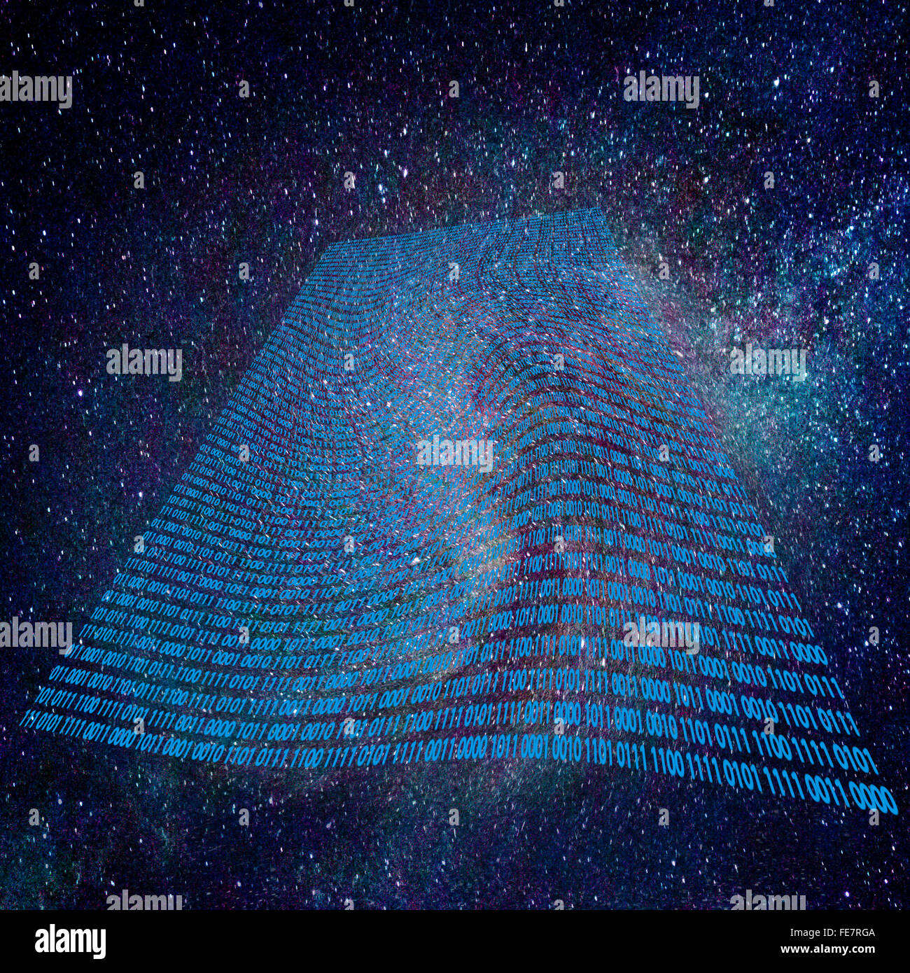 Space - Time fabric. Time Warp - Time Dilation. Quantum mechanics meets general relativity. - Stock Image