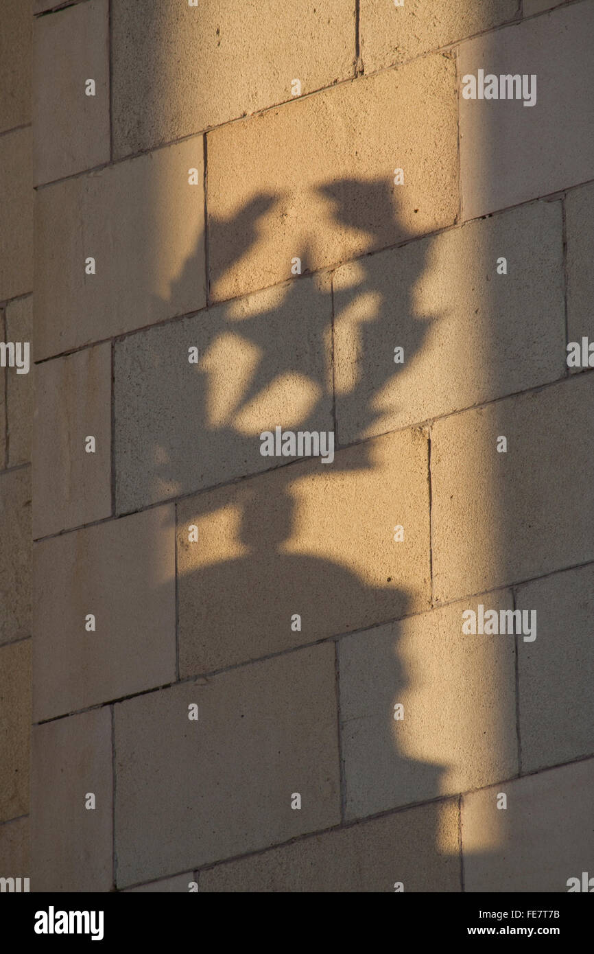 Shadow of Communist star at Moscow State University, one of Stalin's Seven Sisters Moscow, Russia Stock Photo