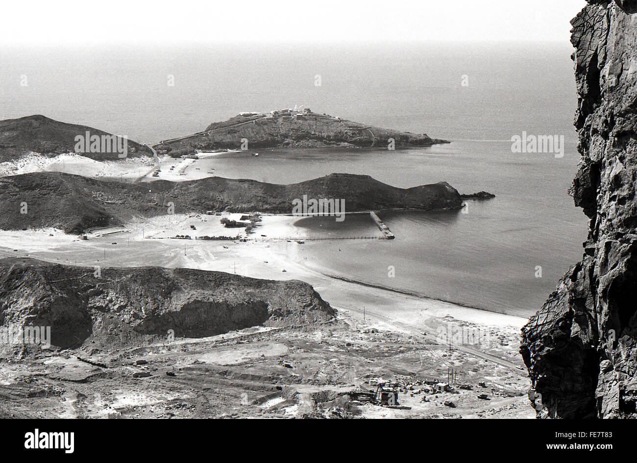 Aden coast and beaches 1967 British withdrawal - Stock Image