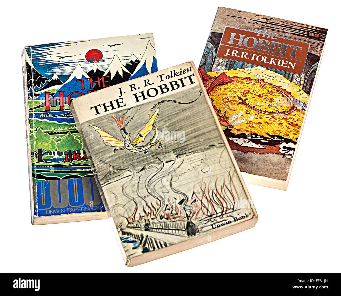 Early issue paperback books by J.R.R. Tolkein, The Hobbit - Stock Image