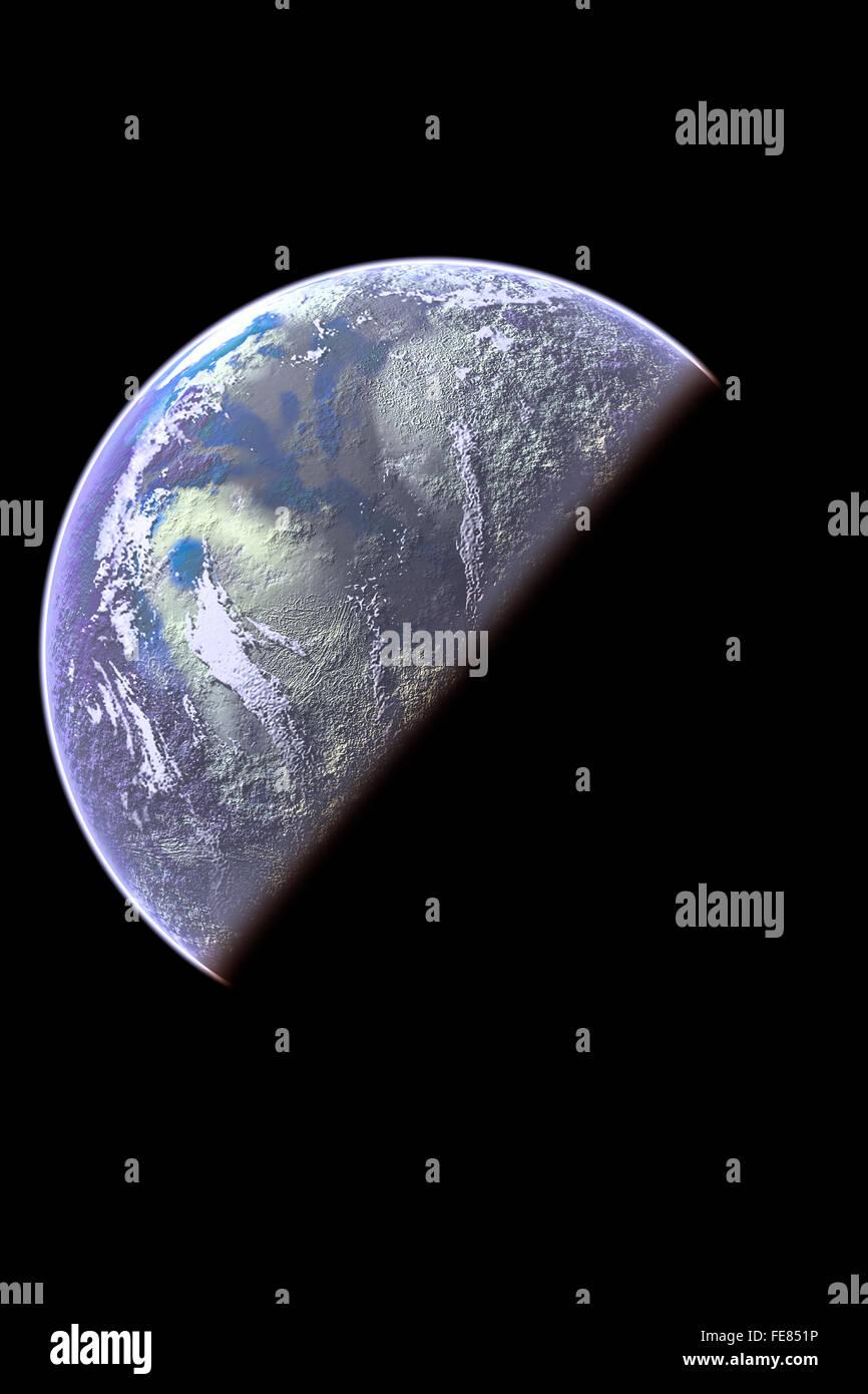 Earth Rise illustration - Stock Image