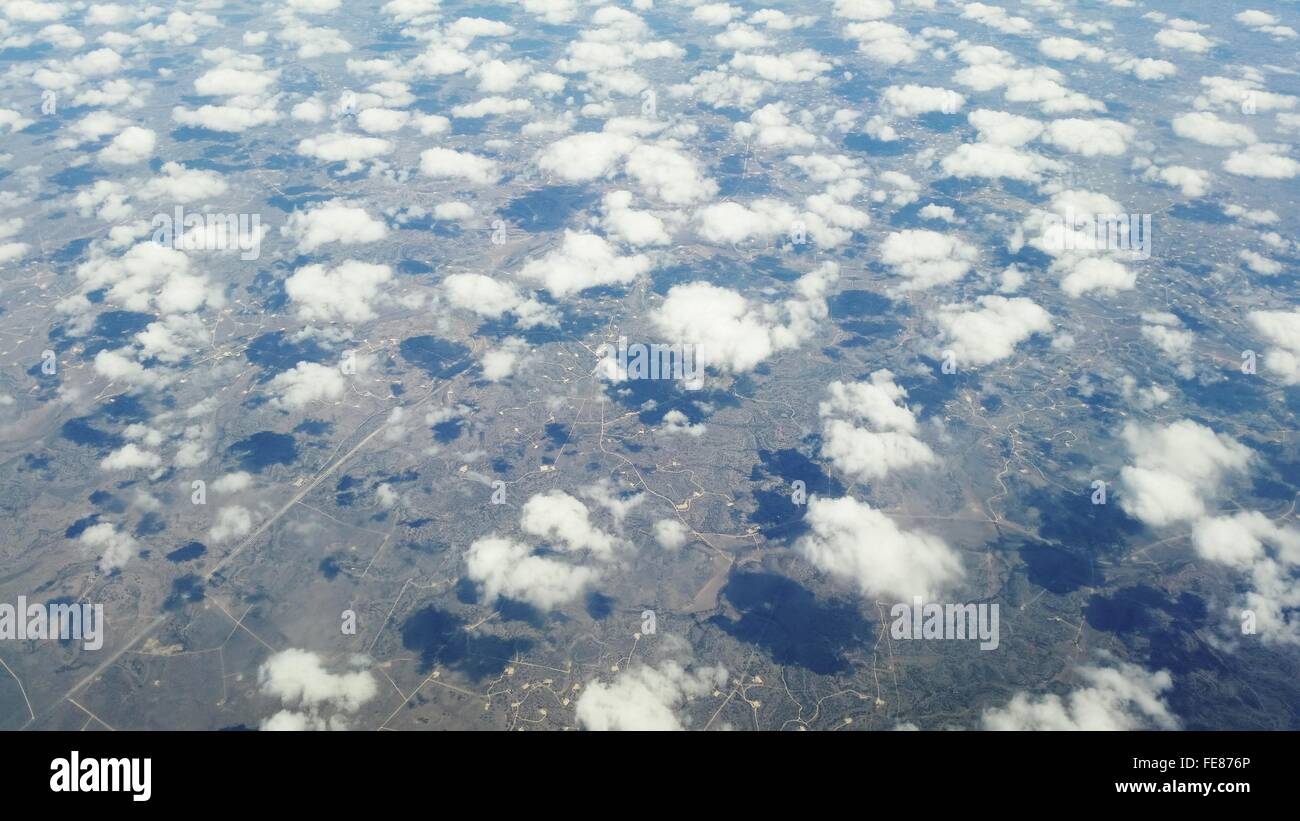 Arial View Of Clouds - Stock Image