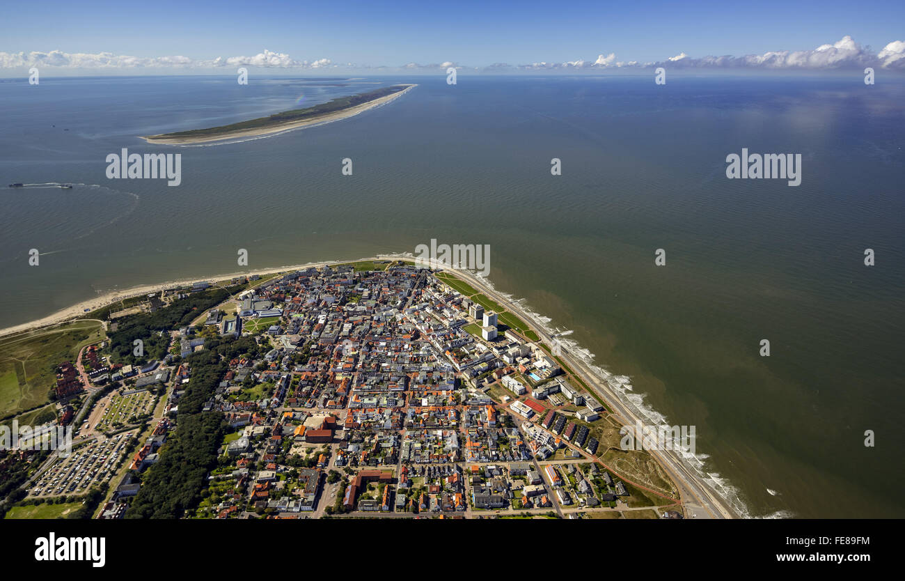 Aerial view, place Norderney, West Island, aerial view, Norderney, North Sea, North Sea island, East Frisian Islands, Stock Photo