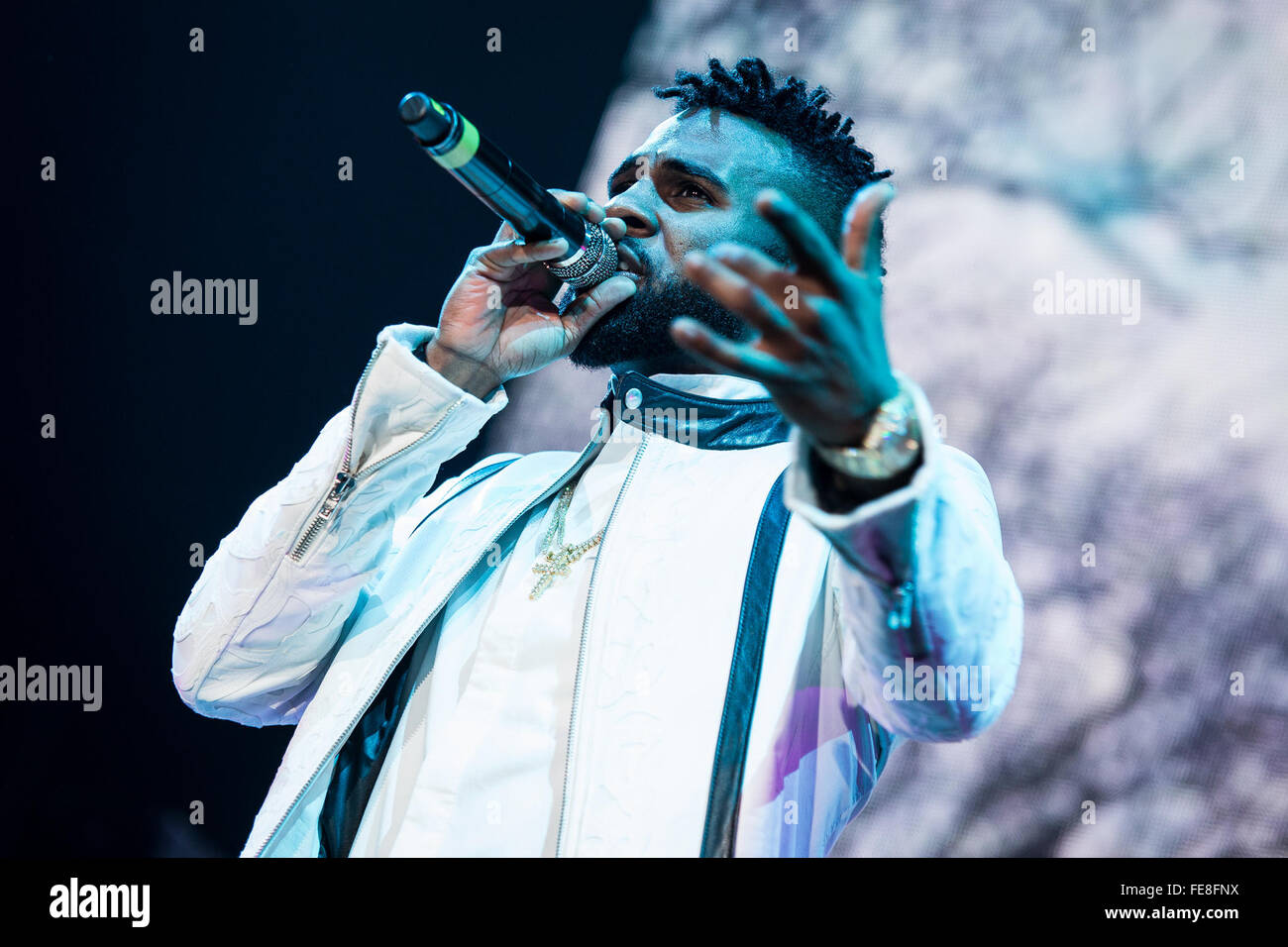 Manchester, UK  4th February, 2016  Jason Derulo performs at