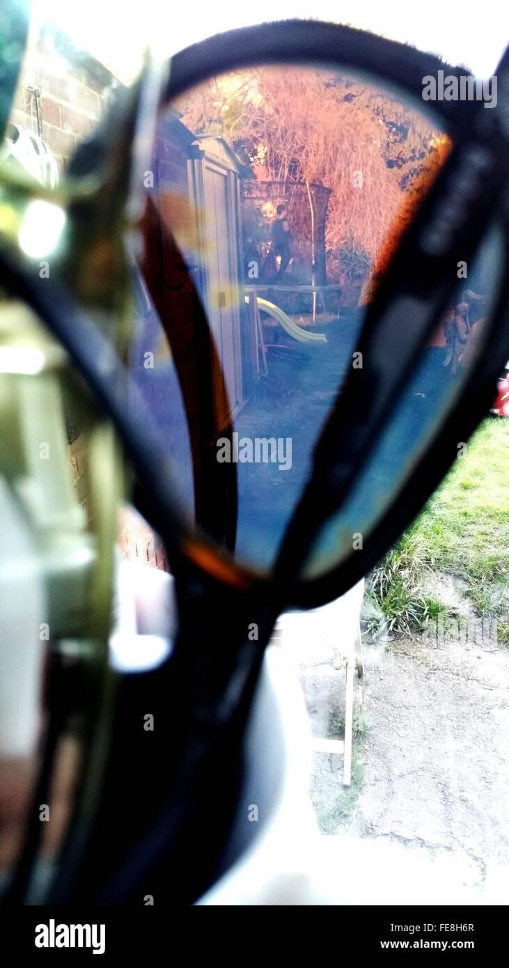 Playground Seen Through Sunglasses - Stock Image