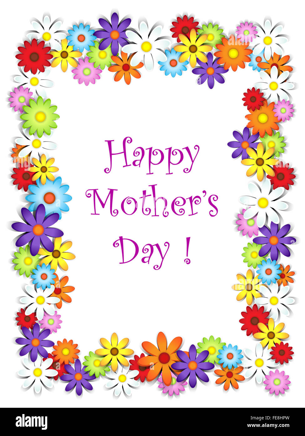 Flower frame happy mother\'s day card Stock Photo: 94846609 - Alamy