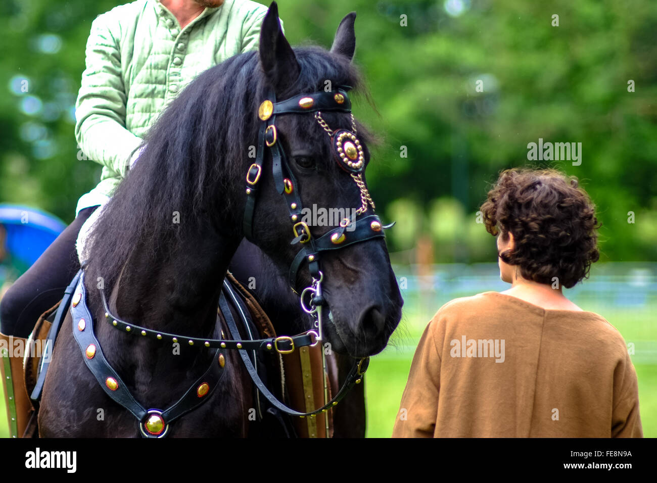 Florence, Italy - April 27, 2014 - Candid shot taken during the famous games of Carnasciale, this year having place - Stock Image