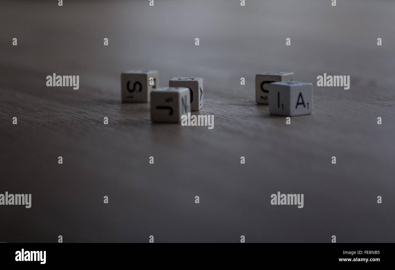 Close-Up Of Alphabetic Dice - Stock Image