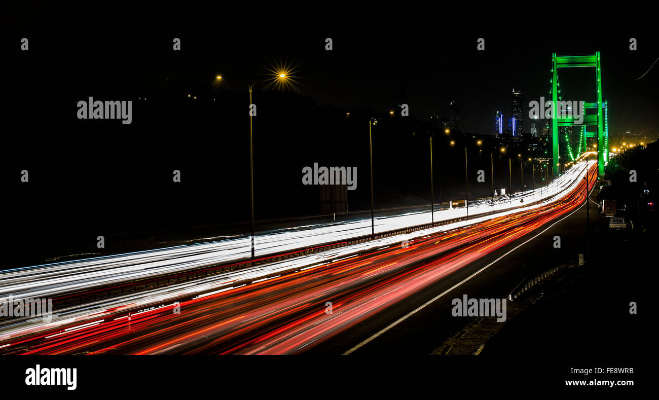 Traffic On Bridge - Stock Image