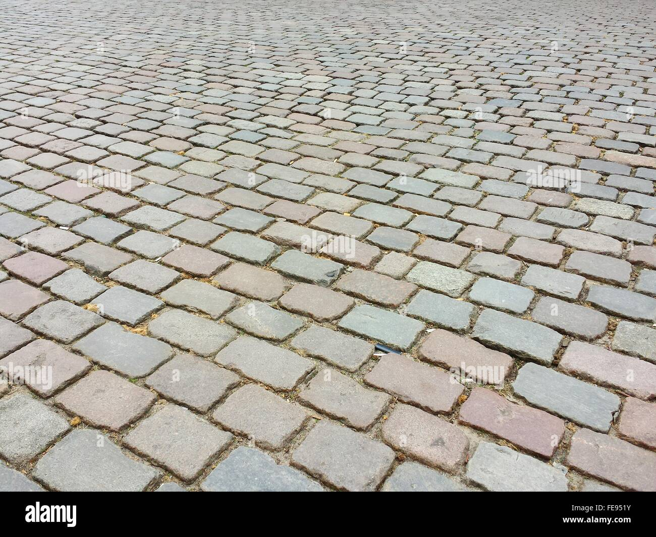 Full Frame Shot Of Cobblestone - Stock Image