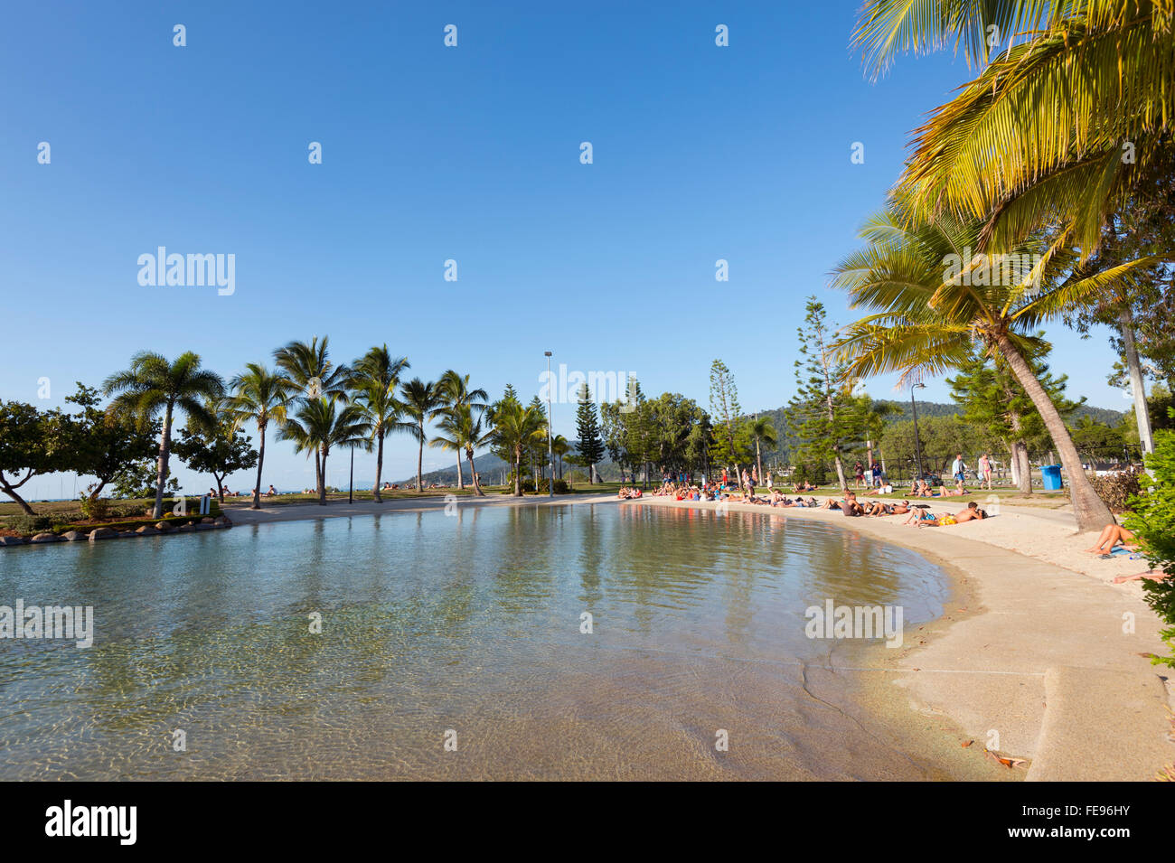 The Lagoon, Airlie Beach, Whitsunday Coast, Queensland, Australia - Stock Image