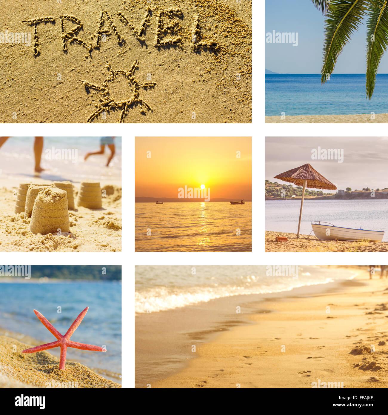 Beach Scene Collage Stock Photos & Beach Scene Collage Stock Images ...