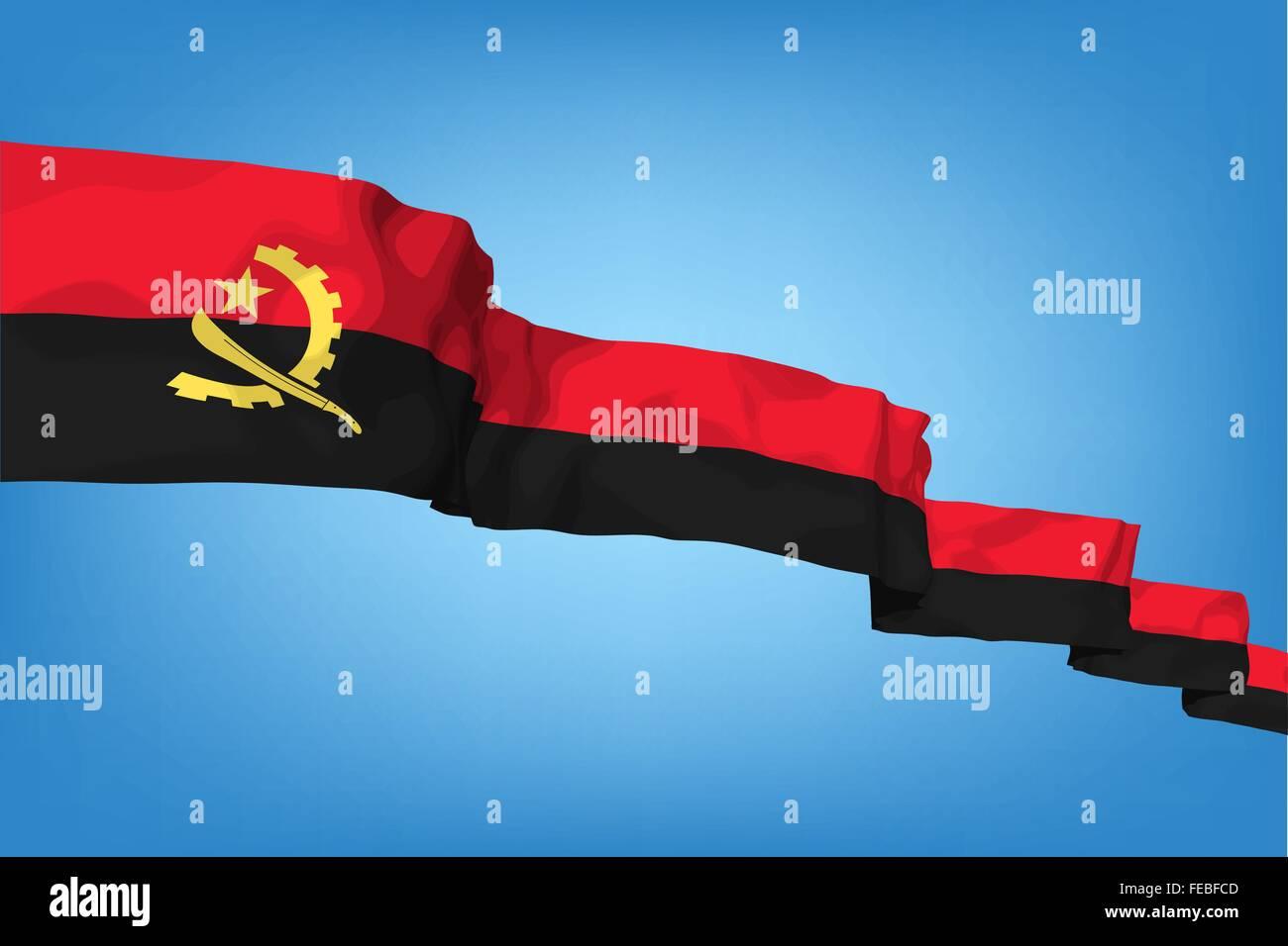 National flag of Angola - Stock Vector