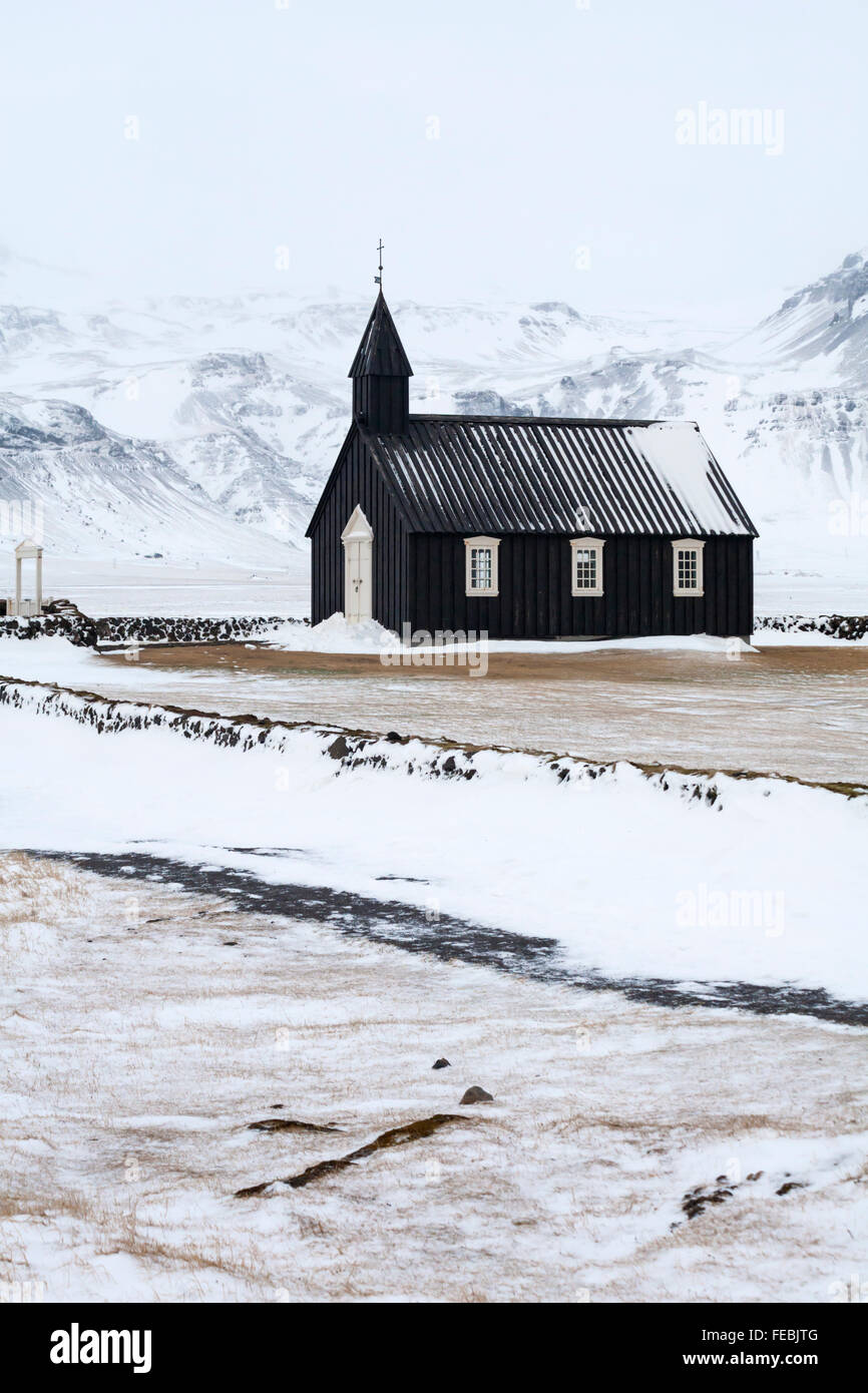 Church Iceland Winter Stock Photos & Church Iceland Winter Stock ...