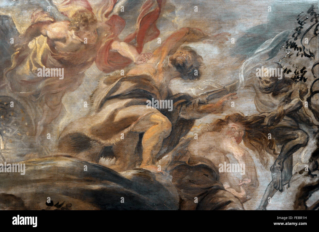 Peter Paul Rubens (1577-1640). Flemish painter. Expulsion from the Garden of Eden, 1620. National Gallery. Prague. - Stock Image
