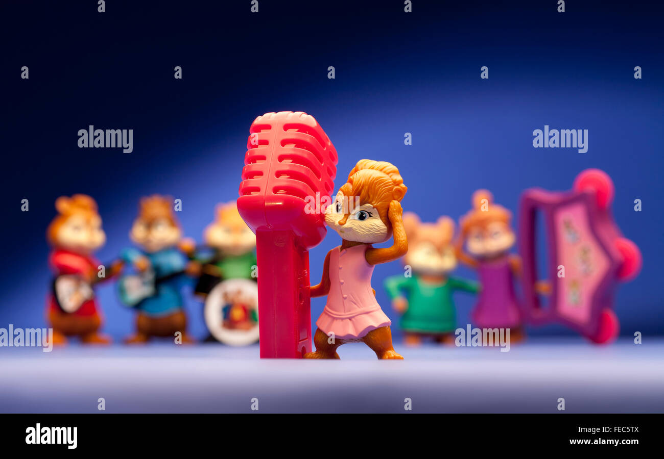 Alvin And The Chipmunks Range From Mcdonalds Happy Meals Stock Photo Alamy