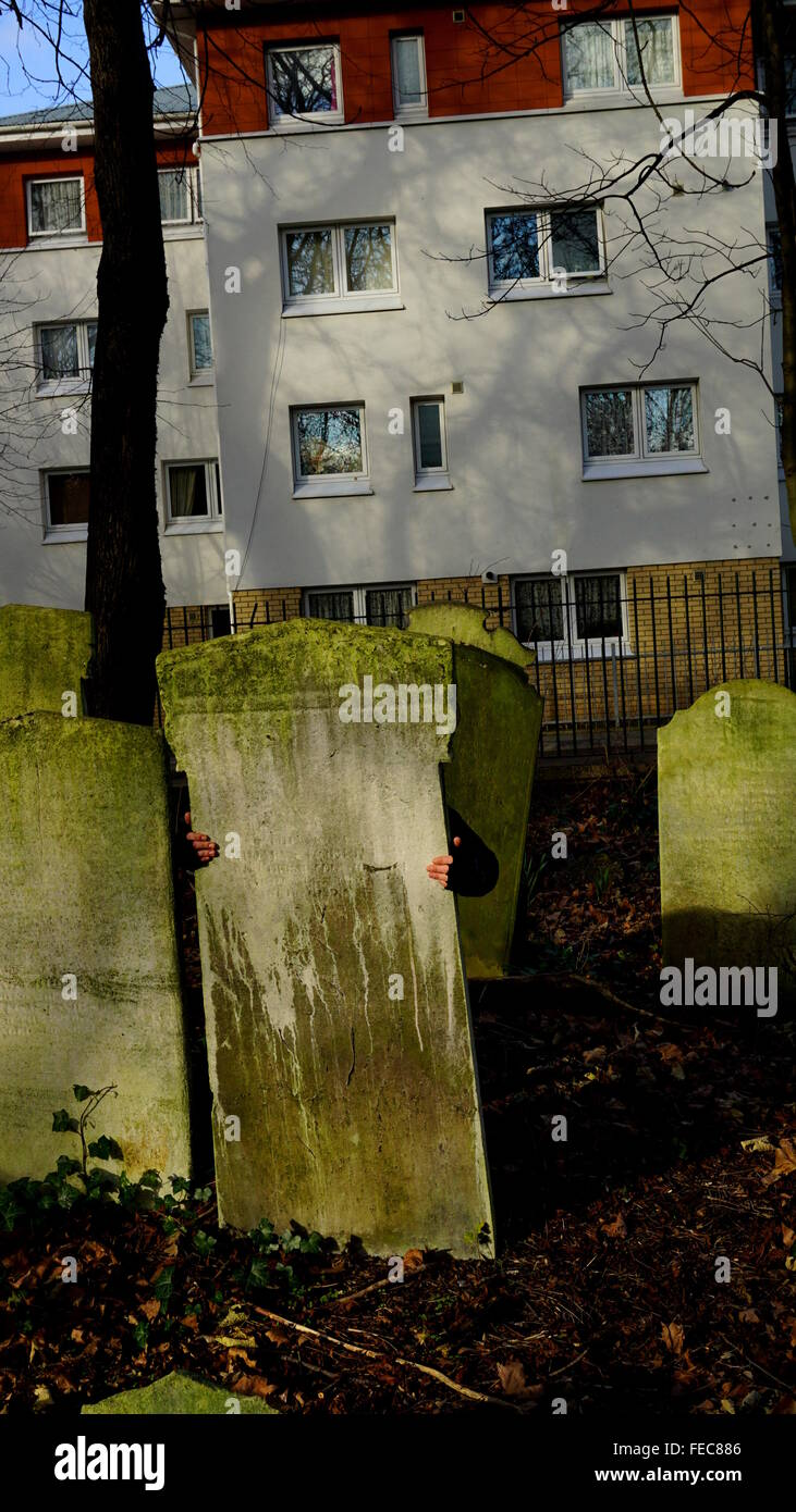 Apartments Near To A Cemetery - Stock Image