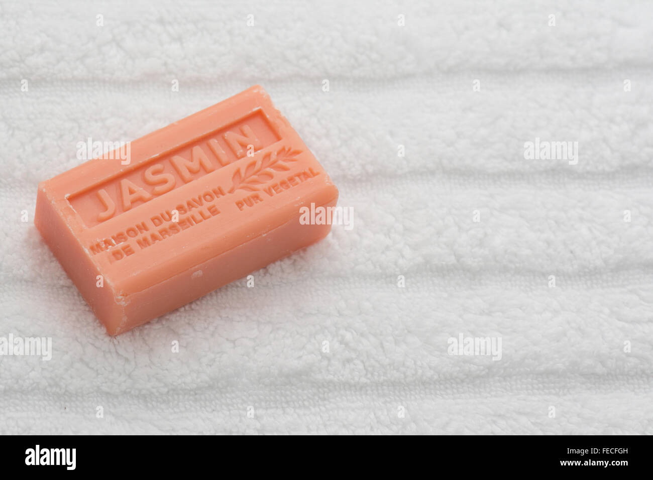 La Maison du Savon Jasmin French scented soap - Stock Image