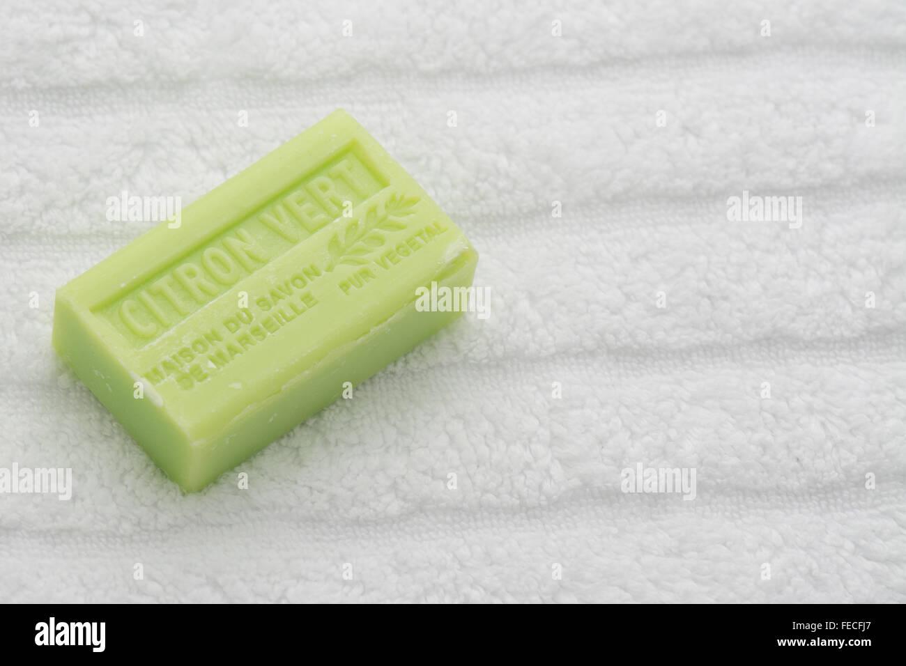 La Maison du Savon Citron Vert French scented soap - Stock Image