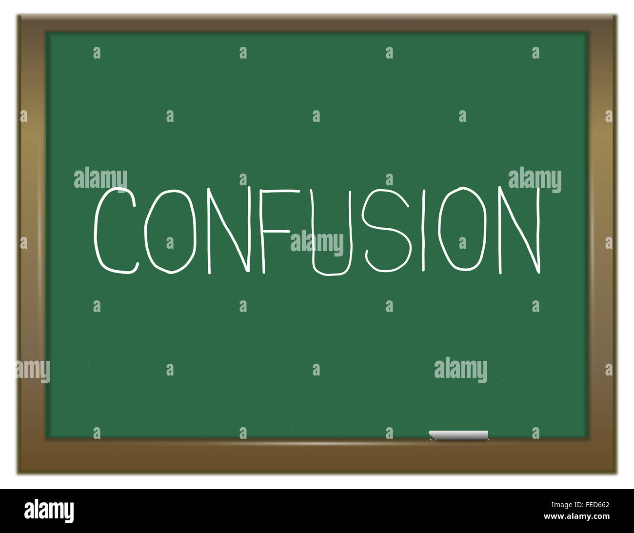 Confusion concept. - Stock Image