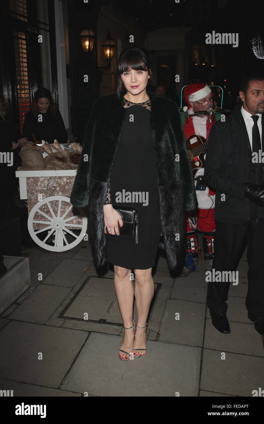 London, UK, 25th Nov 2015: Lilah Parsons attends the Stella McCartney store Christmas lights switching on ceremony - Stock Image
