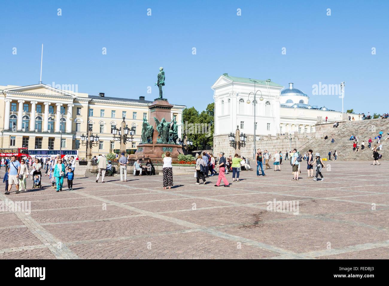 The Senate Square, Helsinki, Finland - Stock Image