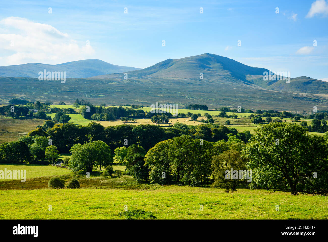 View towards Clough Head and more distant Great Dodd in the English Lake District - Stock Image