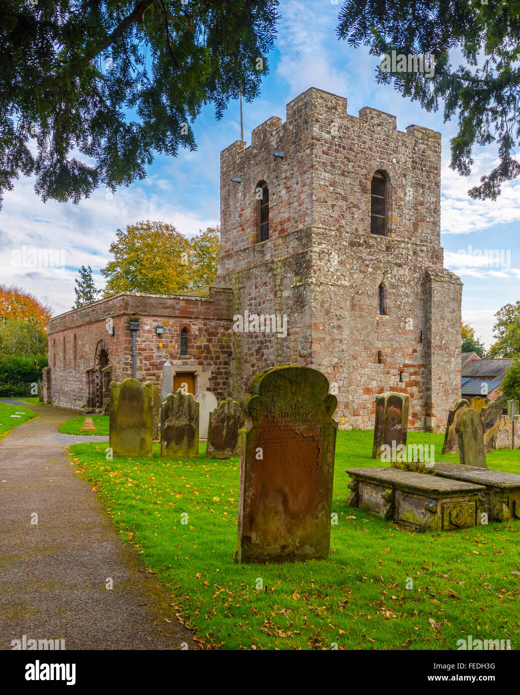 St Michael's Church Burgh-by-Sands Cumbria - Stock Image