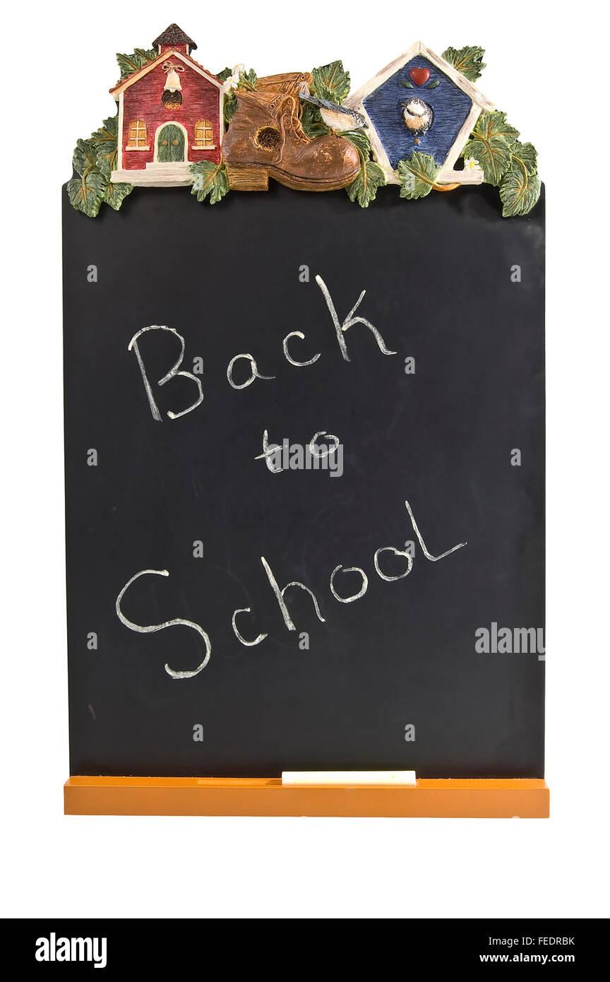 Back to School Chalk Board - Stock Image