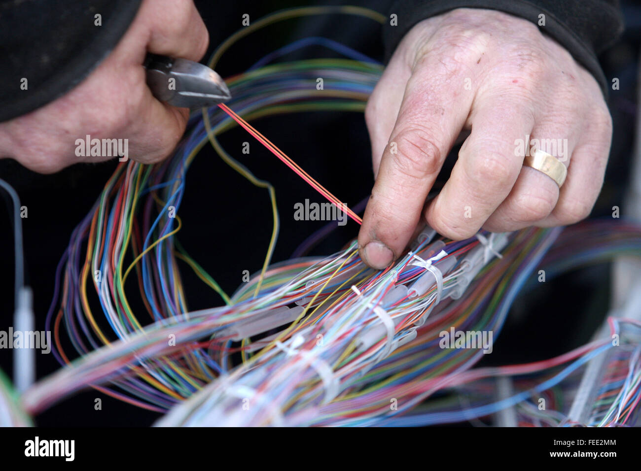 Pleasing Bt British Telecom Open Reach Engineer Fixing A Fault At A Junction Wiring Digital Resources Indicompassionincorg