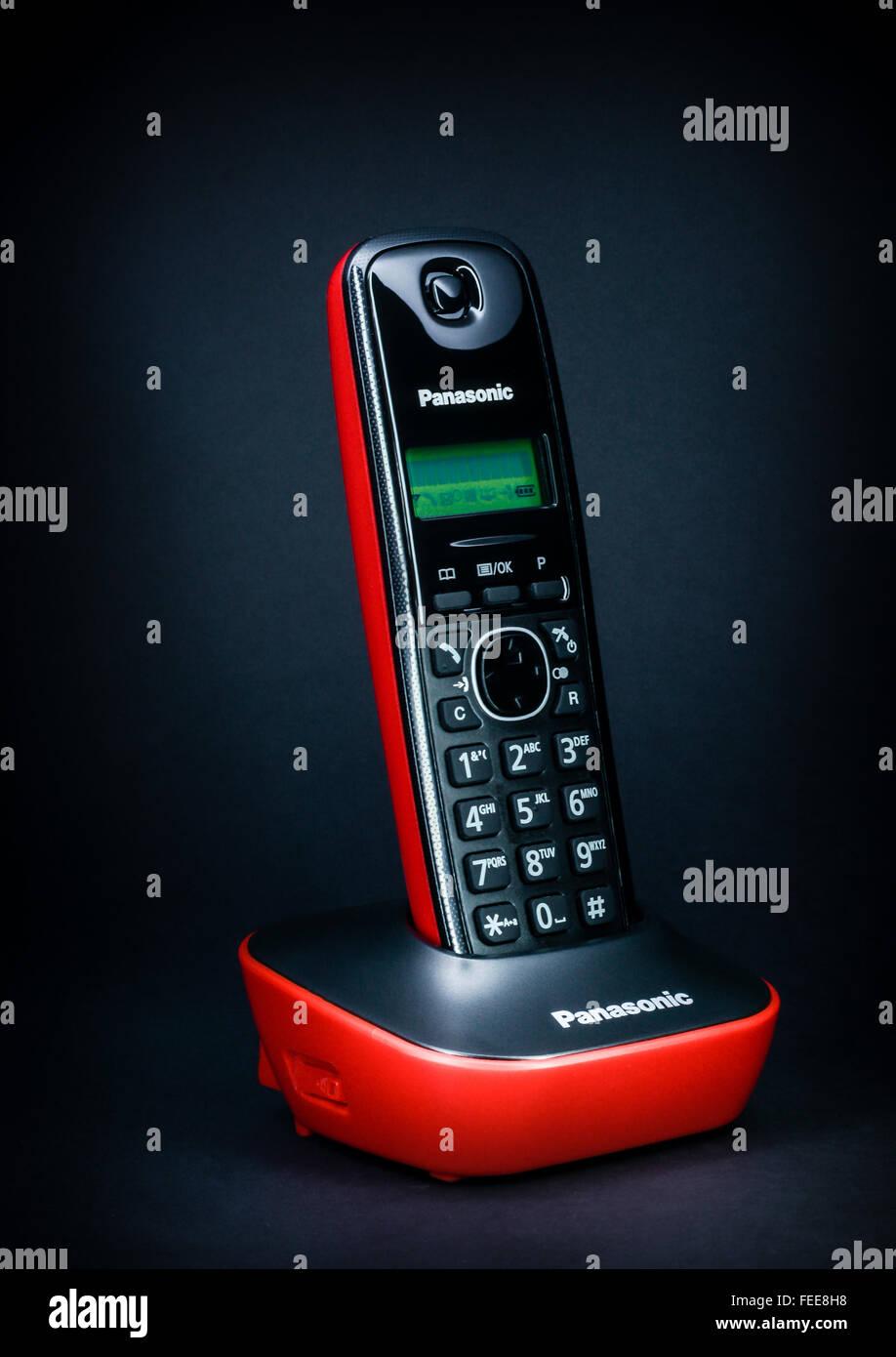 Panasonic telephone - Stock Image