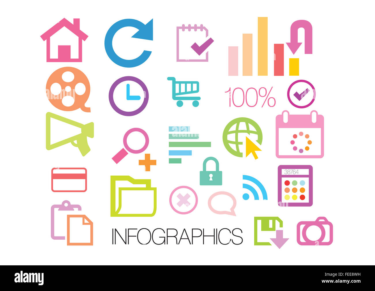 iNFOGRAPHIC Icons - Stock Image