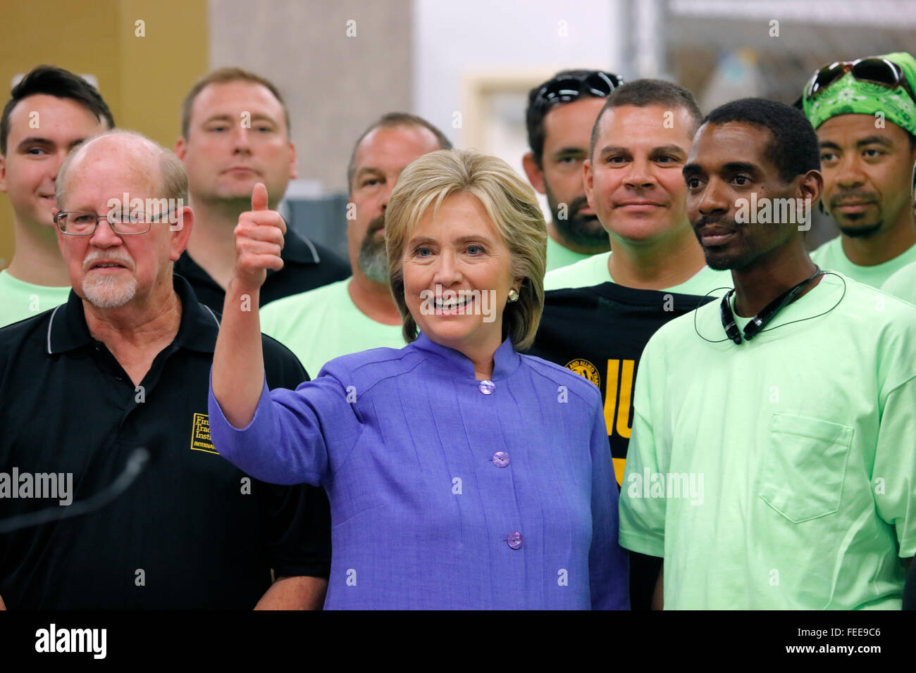 HENDERSON, NV - OCTOBER 14, 2015: Democratic U.S. presidential candidate & former Secretary of State Hillary - Stock Image