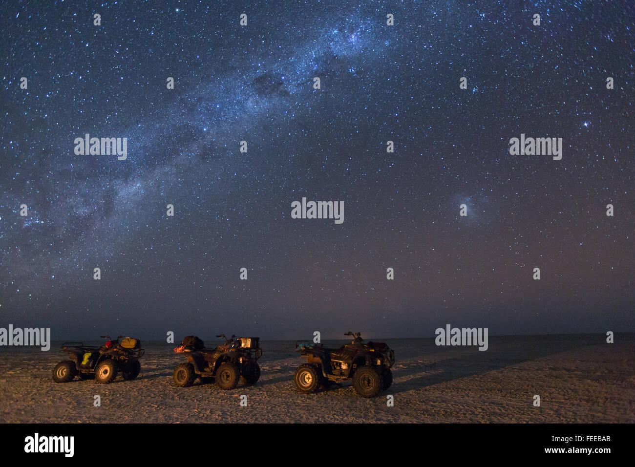 Quad Bikes under the stars - Stock Image