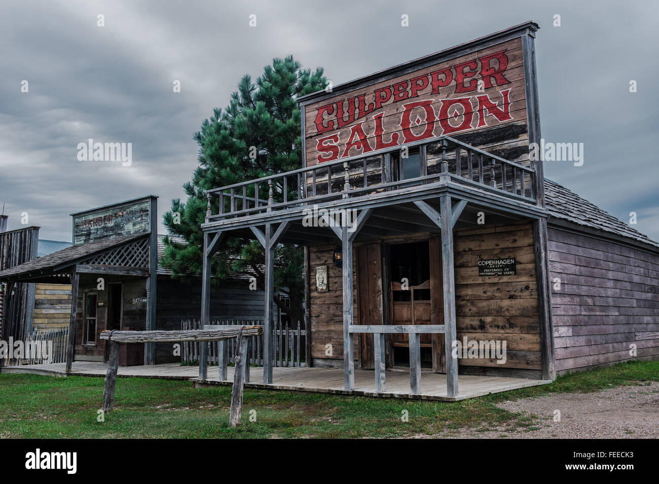 Replica of an old saloon - Stock Image