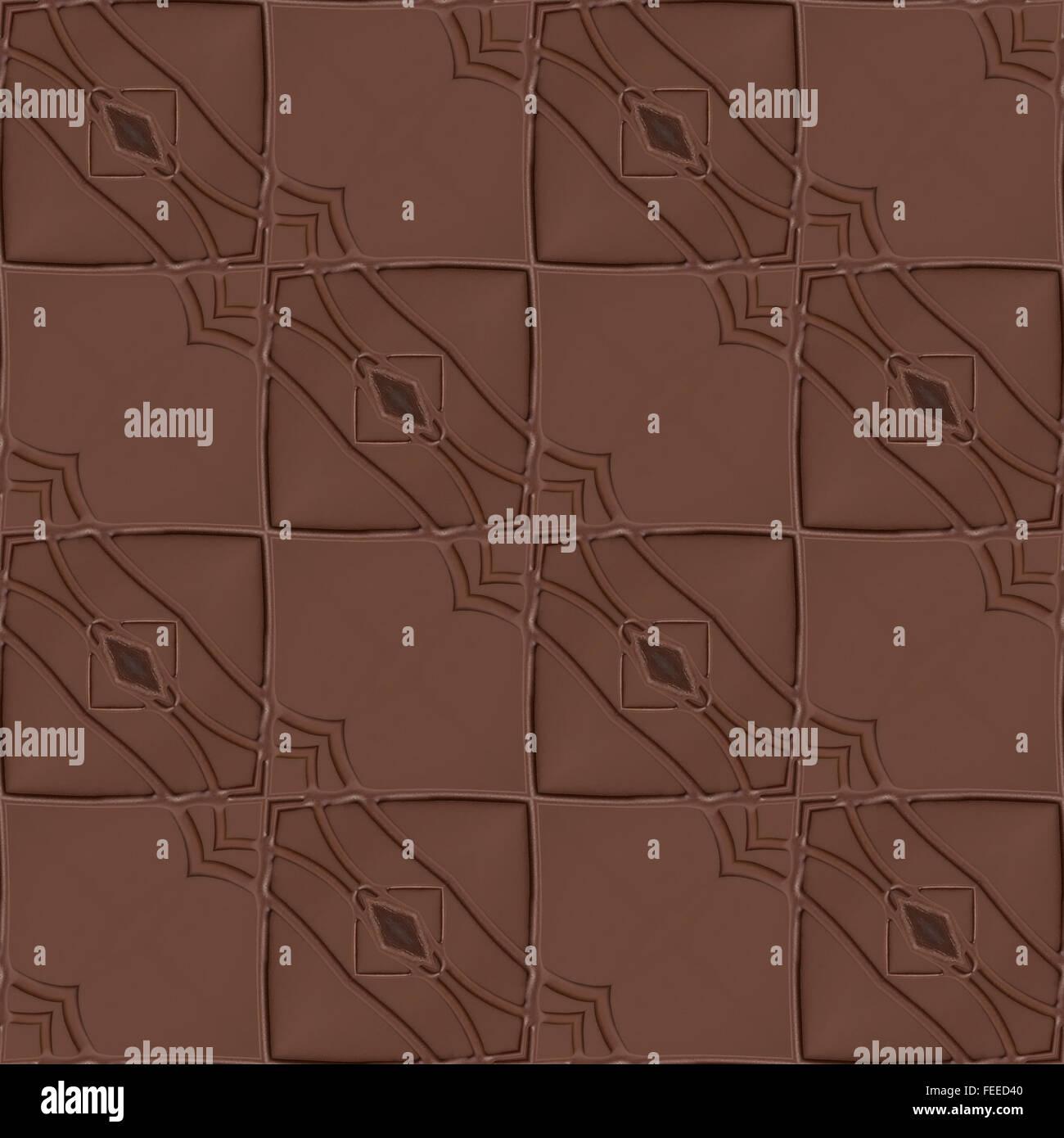 Chocolate Block Seamless Texture Pattern - Stock Image