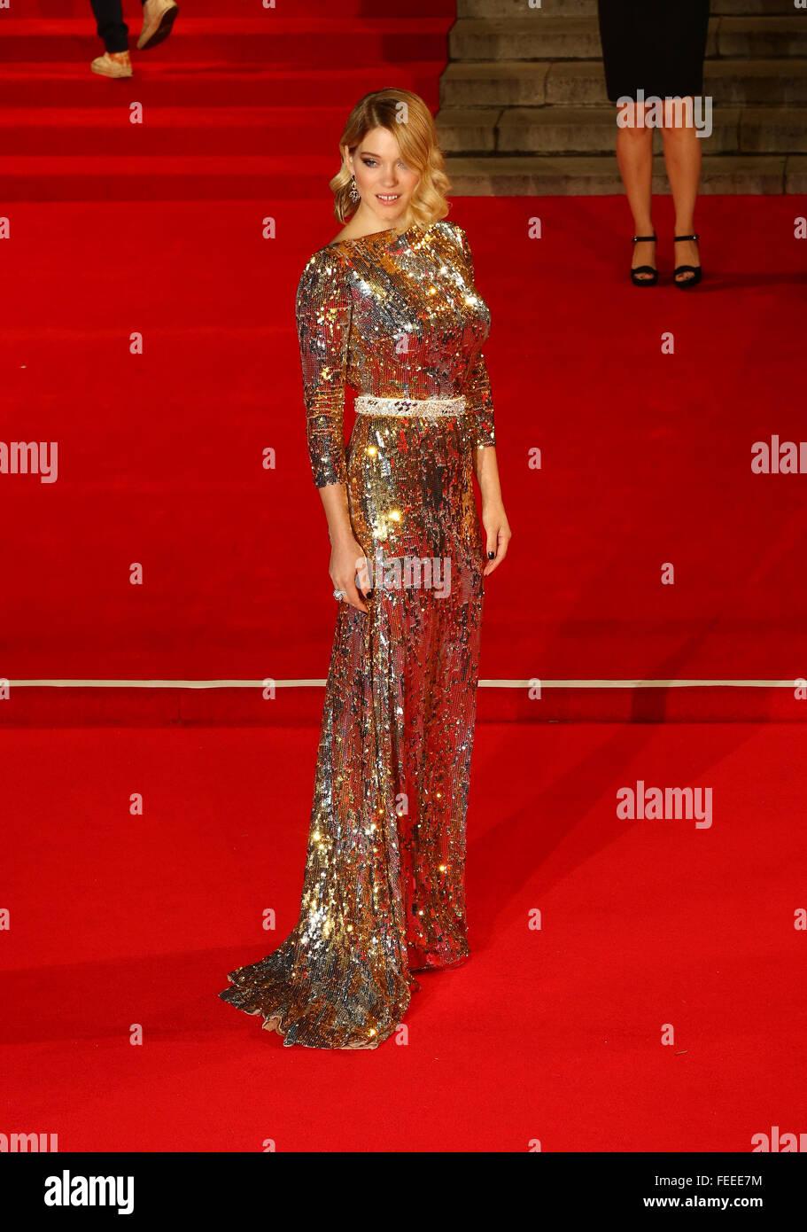 London, UK, 26th Oct 2015: Lea Seydoux attends James Bond Spectre CTBF film premiere in London - Stock Image