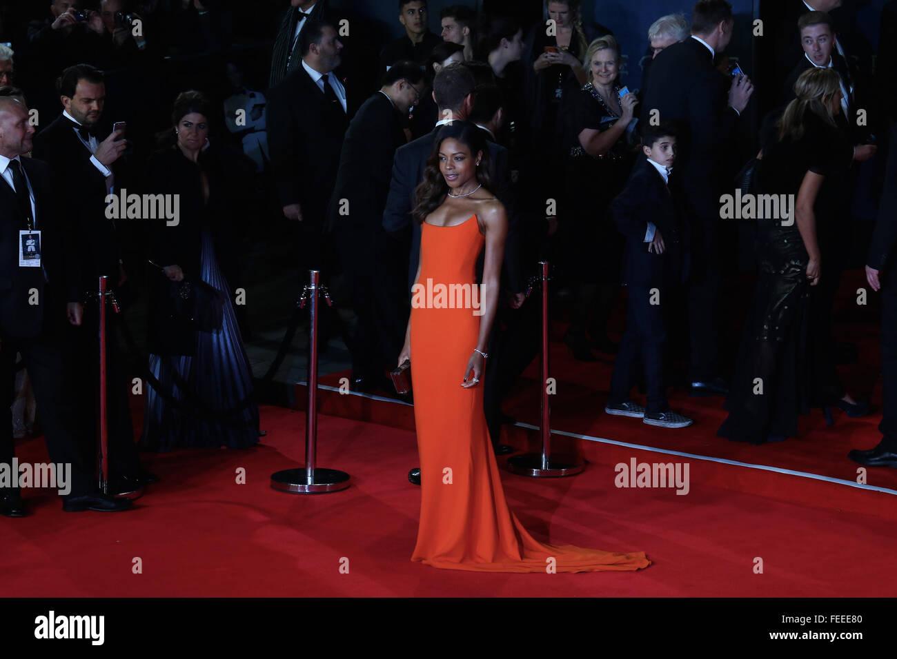 London, UK, 26th Oct 2015: Naomie Harris attends James Bond Spectre CTBF film premiere in London - Stock Image