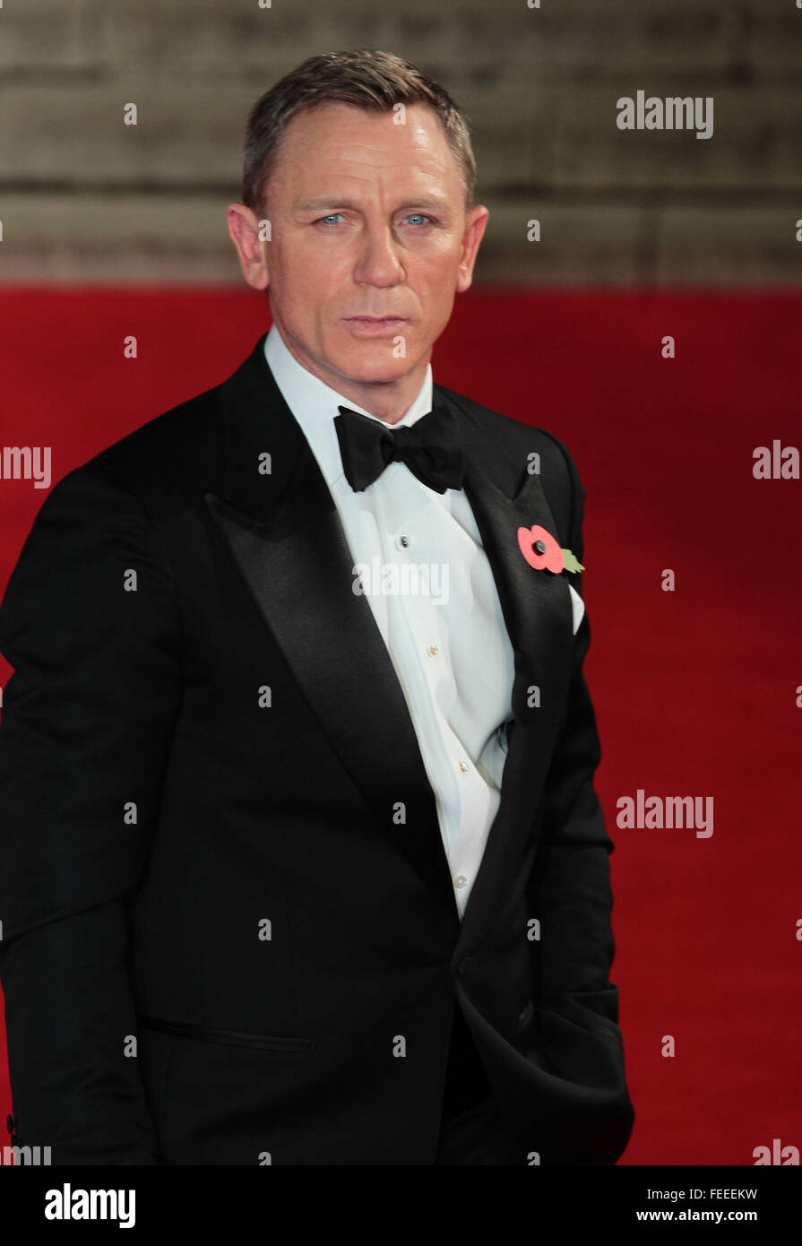 London, UK, 26th Oct 2015: Daniel Craig attends James Bond Spectre CTBF film premiere in London - Stock Image