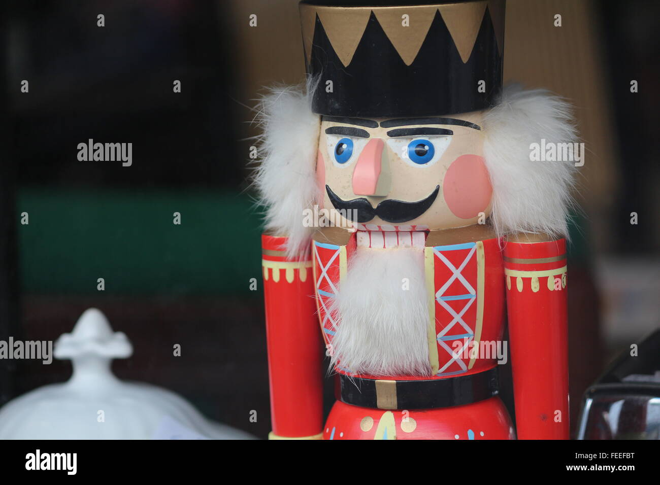 nut-cracker with red uniform - Stock Image