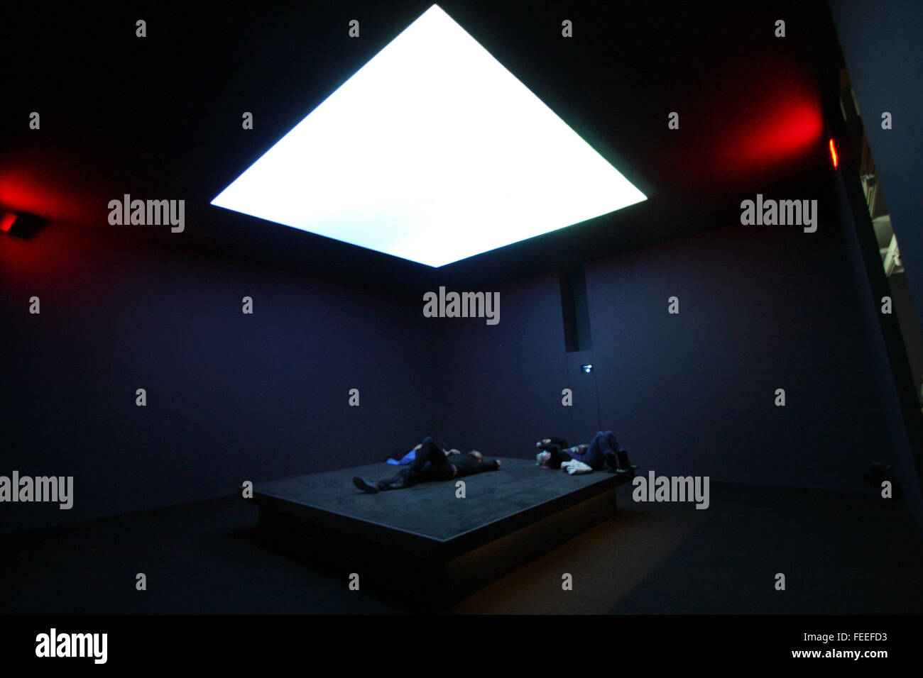 Astro Noise, the first solo exhibit by artist Laura Poitras at the Whitney Museum of American Art in New York Cit - Stock Image