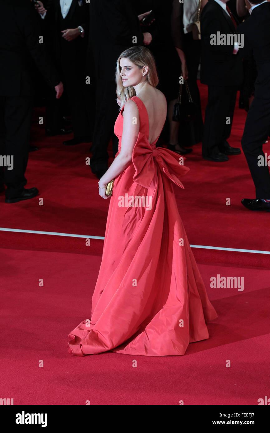 London, UK, 26th Oct 2015: Ashley James attends James Bond Spectre CTBF film premiere in London - Stock Image
